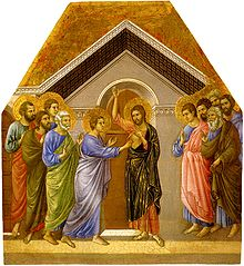 Duccio, The Incredulity of Thomas, 1461