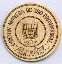 Ejemplo de sello moneda de Alcañiz
