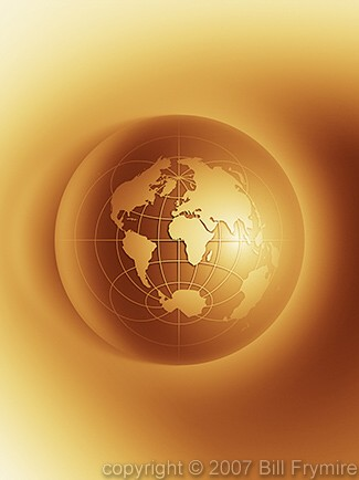 polar world map globe