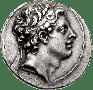 Antiochus IV. Image source: Wikimedia