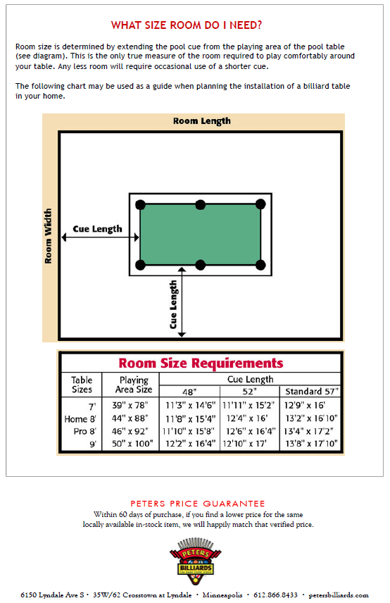 Pool table size room - How much room do i need for a pool table ...