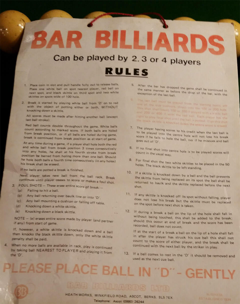 Bar Billiard Table For Sale In South Carolina