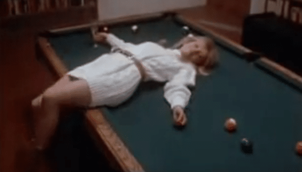 Joe sex on pool table