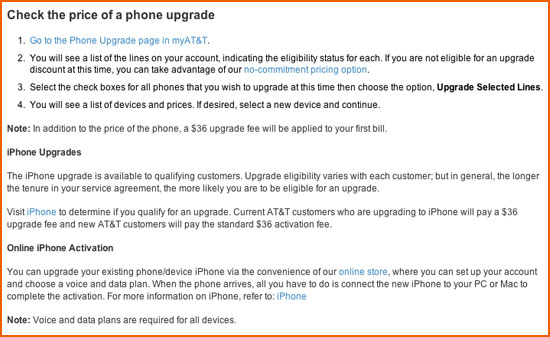 AT&T Raising Upgrade Fees