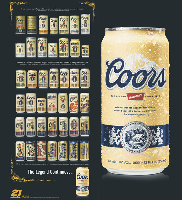 Cans Bud Years Over Light