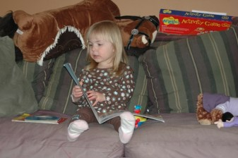 Ada, In New Clothes, Reading to Herself