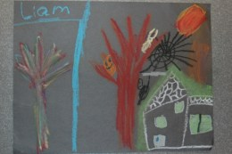 Liam's work from school.