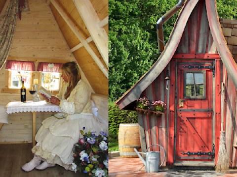 hexenhaus für garten märchenhafte garten-holzhäuser