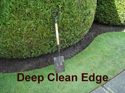 lawn and landscape with a deep clean edge