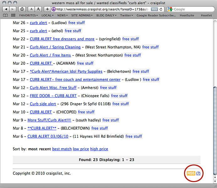 How To Use Craigslist And Google Reader For Power Searches And