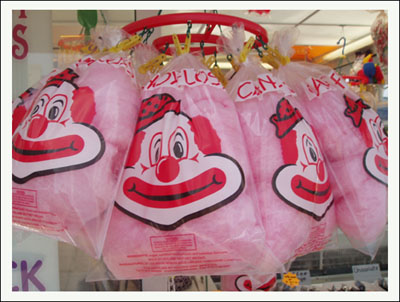 Traditional Candy Floss Bags ready to be served