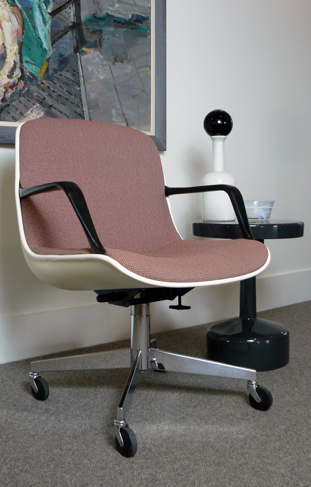Vintage 1970s Swivel Desk Chair By Charles Pollock For Knoll