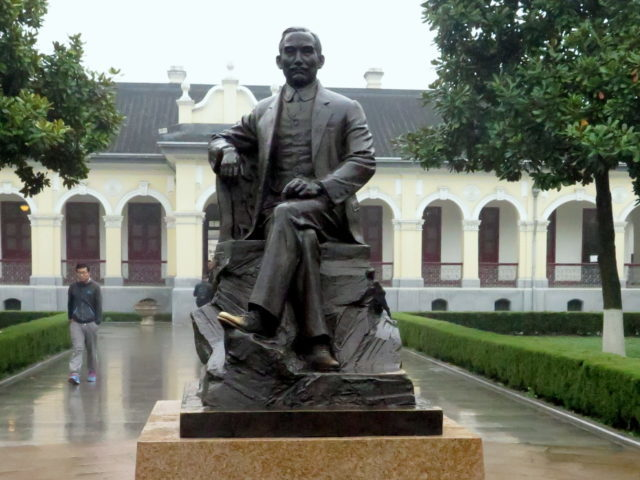 Statue of Sun Yat-sen, Father of the Nation, at the Presidential Palace in Nanjing. Presidential Palace, Nanjing, China, Asia.