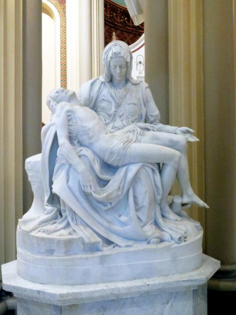"""Beautiful replica of Michelangelo's """"Pietà"""". San Francisco, United States, North America."""