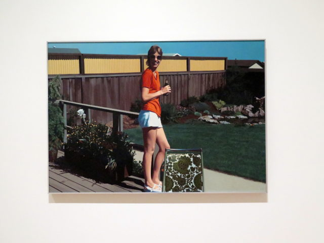 """Hockney goes down-market? Actually, it's """"Watsonville Olympia"""" by SF-born painter Robert Bechtle, 1977. SFMOMA, San Francisco, United States, North America."""