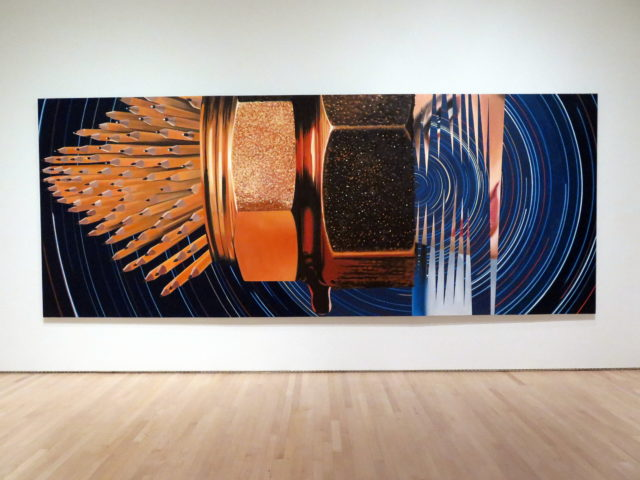 """This large one reminds me of Carol Burnett's character Mrs. Wiggins: """"I have pencils to sharpen!"""" """"Leaky Ride for Dr. Leakey"""" by James Rosenquist, 1983. SFMOMA, San Francisco, United States, North America."""