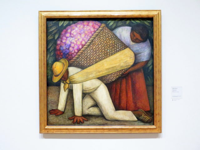 """""""The Flower Carrier"""" by Diego Rivera, 1935. A beauty, but harsh. This was was of the first works in the museum's permanent collection. SFMOMA, San Francisco, United States, North America."""