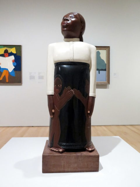 """""""Forever Free"""" by Sargent Johnson, 1933. Another of the museum's original pieces. Sargent aimed to depict the beauty and dignity of African-Americans. SFMOMA, San Francisco, United States, North America."""