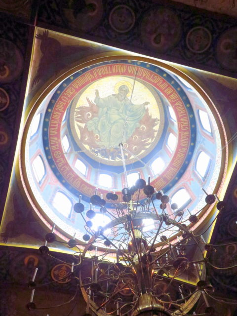 Under the central dome at the Holy Virgin Cathedral. San Francisco, United States, North America.