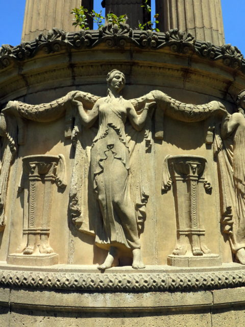 Lovely detail on the Palace of Fine Arts. San Francisco, United States, North America.