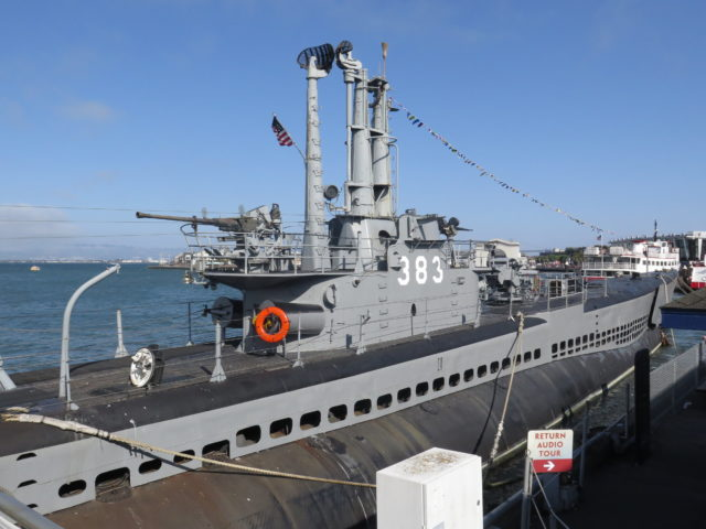 The USS Pampanito saw a lot of action in the Pacific during World War II. San Francisco, United States, North America.