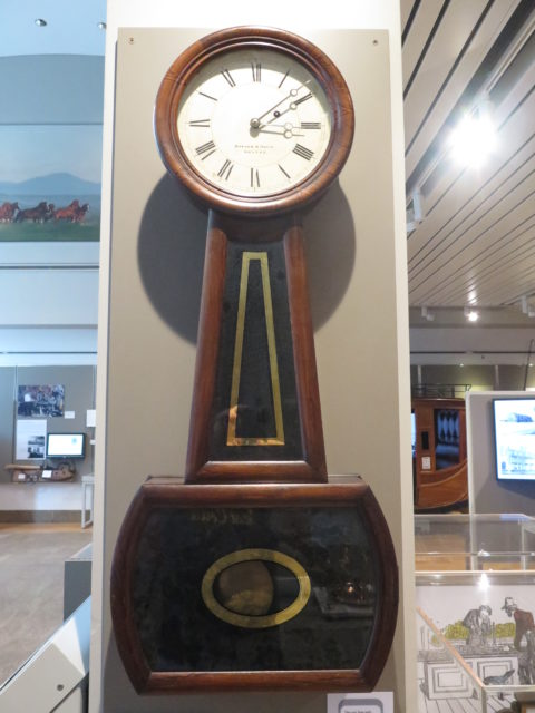 Precision Banjo clocks, such as this one, kept everything at Wells Fargo running on time, including the stagecoaches. They were made in Boston! San Francisco, United States, North America.