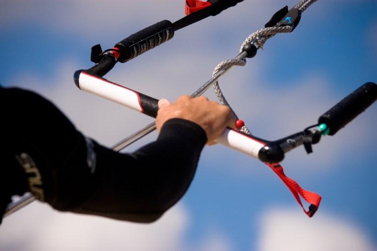 Kite surfing at Bracklesham Bay