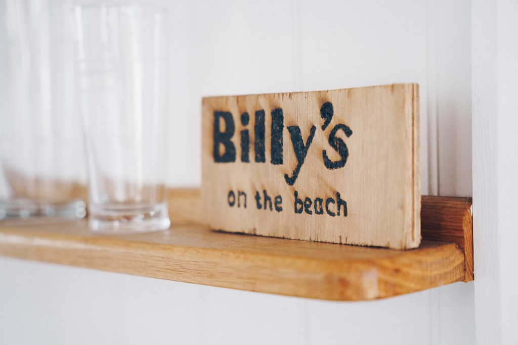 Billy's On The Beach Interior Sign
