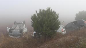Balıkesir'de feci kaza! 9 araç birbirine girdi