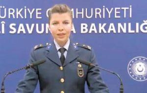 Binbaşı Kara, Milli Savunma Bakanlığı'nın ikinci kadın sözcüsü oldu