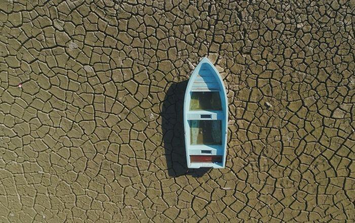 Çöle dönmüştü, yağmur ve kar suları sayesinde yeniden göle döndü