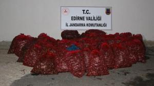 Edirne'de çuval çuval ele geçirildi! Tam 1 ton…