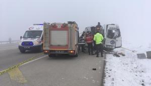 Hakkari'de yolcu minibüsü TIR'la çarpıştı: Ölü ve yaralılar var