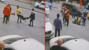 İstanbul'un göbeğinde dubalı, sopalı ve bıçaklı kavga!
