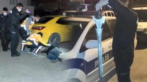 Kılıçla taksi durağına saldıran şüpheli serbest bırakıldı