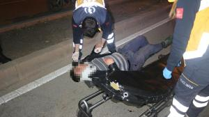 Köpeğe çarpan motosikletli kurye yaralandı