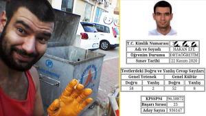 Maddi İmkansızlıktan Üniversiteyi Bıraktı, Sokaklarda Kağıt Topladı: KPSS'de 2 Kez Derece Yapan Hakan Efe'nin Öyküsü!