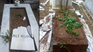Mezarlıklardaki Türk bayraklarını söktü! Şok eden savunma