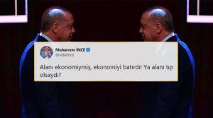 Muharrem İnce'den 'Alanım Ekonomi' Diyen Erdoğan'a: 'Ekonomiyi Batırdı; ya Alanı Tıp Olsaydı?'