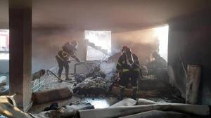 Şanlıurfa'da taziye evinde yangın