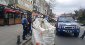 Tekirdağ'da sokağa çıkma kısıtlamasını ihlal eden atık toplayıcılarına para cezası kesildi