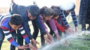 Tel Abyad'da Türkiye'nin desteğiyle su sorunu giderildi: 35 köyde artık su var
