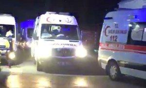 Trabzon'da Pandemi Hastanesi Önünde Korkutan Ambulans Yoğunluğu