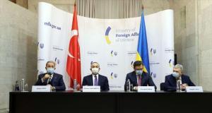 Ukrayna-Türkiye dışişleri ve savunma bakanlarının katıldığı toplantının ardından ortak bildiri yayınlandı