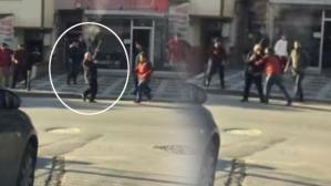 Ümraniye'de pompalı dehşeti kamerada!