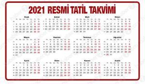 2021 Resmi Tatiller Takvimi | Ramazan ve Kurban Bayramı kaç gün tatil olacak?