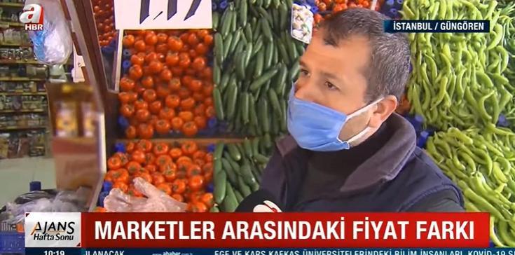 A Haber'in 'Marketlerin Vurgunu' Diyerek Pahalılık İçin Marketleri Suçladığı Haberi