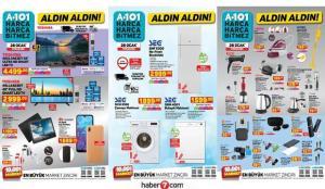 A101 28 Ocak aktüel kataloğu! Elektronik, beyaz eşya, mobilya ve züccaciye ürünlerinde..