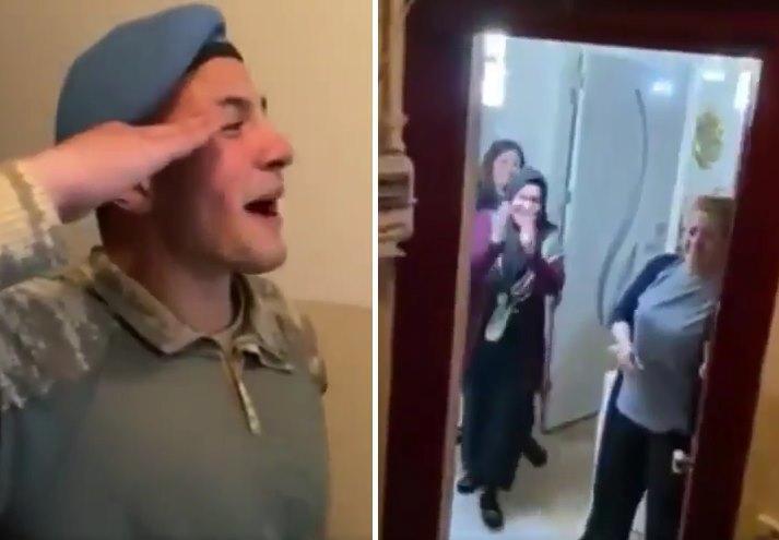 Askerden Dönen Gencin Ailesine Yaptığı Muhteşem Sürpriz