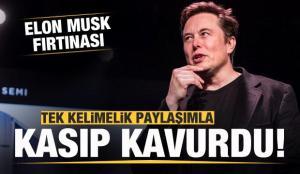 Elon Musk'tan tek kelimelik paylaşım! Ortalığı kasıp kavurdu